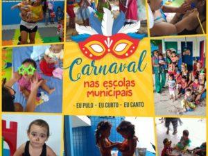 Escolas municipais promoveram Bailinhos de Carnaval.