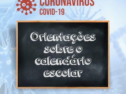 Orientações sobre o calendário escolar