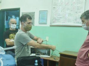 Alunos da EM Tancredo participam da construção de respiradores