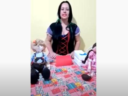 CEI Irmã Sofia – Fazendo uma sanfona com caixas de leite e papelão